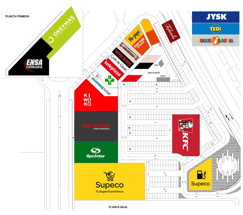 Plano de tiendas